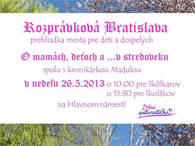 Rozprávková Bratislava 26.5.2013